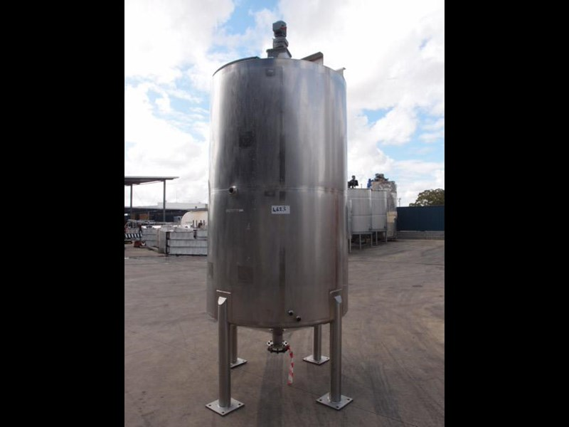 stainless steel mixing tank 4,000lt 80119 001