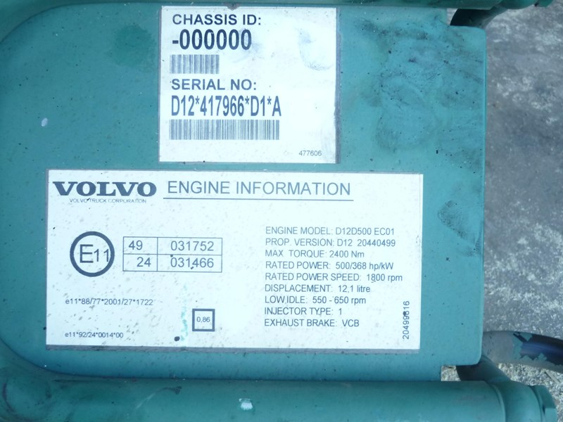volvo engine ecm d12d 118972 001