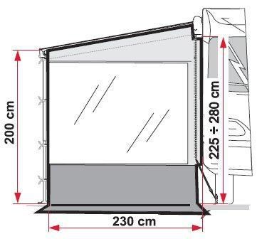 fiamma awnings side wall for fiamma f45 awnings 195077 003