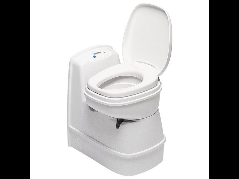 thetford cassette toilet c200cs electric flush & swivel seat 195346 001