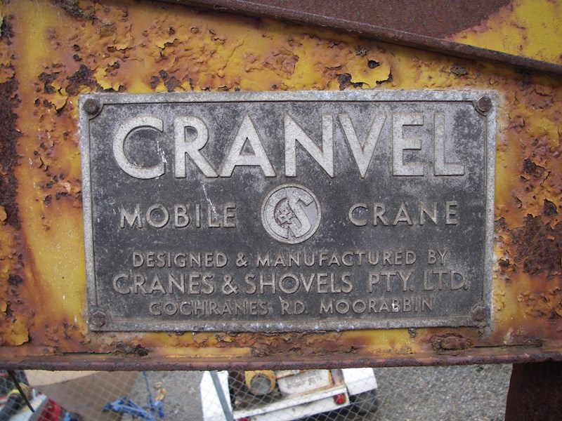 cranvel mobilift crane (wrecking parts only) fordson super major powered 220944 003