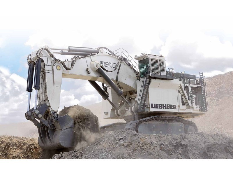 liebherr r 9800 - face shovel 37446 001