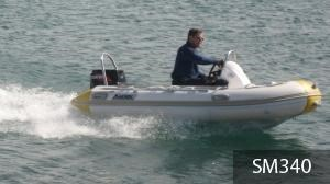 aakron 3.8m rib with steering console 233914 007