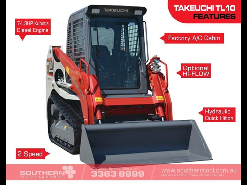 takeuchi tl8 2 speed track loader [machtake] [74hp] as new with new 4 in 1 bucket 241635 002