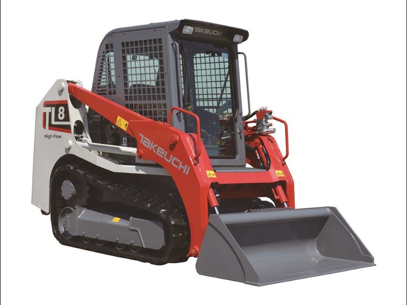 takeuchi tl8 2 speed track loader [machtake] [74hp] as new with new 4 in 1 bucket 241635 004