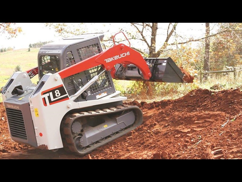 takeuchi tl8 2 speed track loader [machtake] [74hp] as new with new 4 in 1 bucket 241635 005