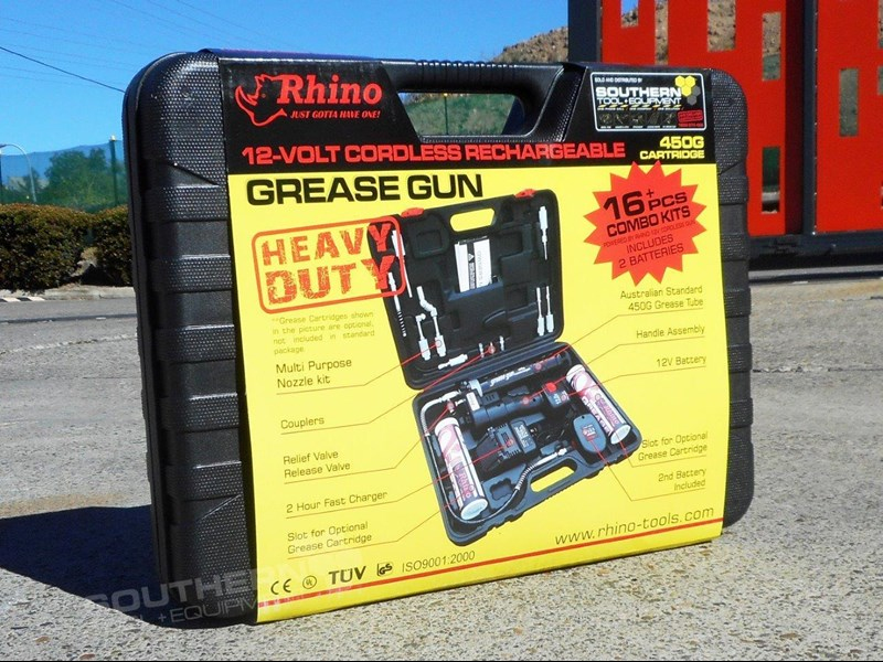 rhino rechargeable 12v grease gun - new model [tfggun] [gg06] [free delivery] 242957 009