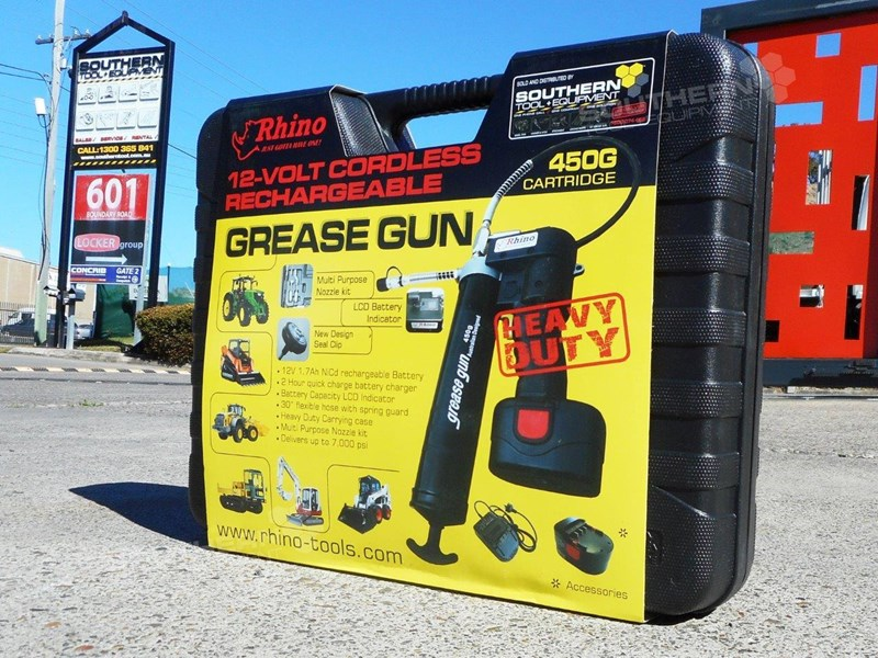 rhino rechargeable 12v grease gun - new model [tfggun] [gg06] [free delivery] 242957 011