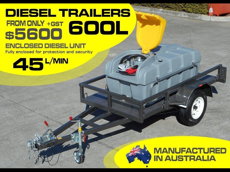 lockable & secure poly 600l enclosed on road diesel fuel trailer [tfpoly] [attftrail] 243054 001