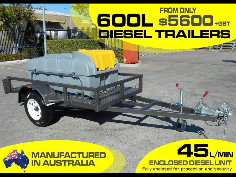 lockable & secure poly 600l enclosed on road diesel fuel trailer [tfpoly] [attftrail] 243054 003