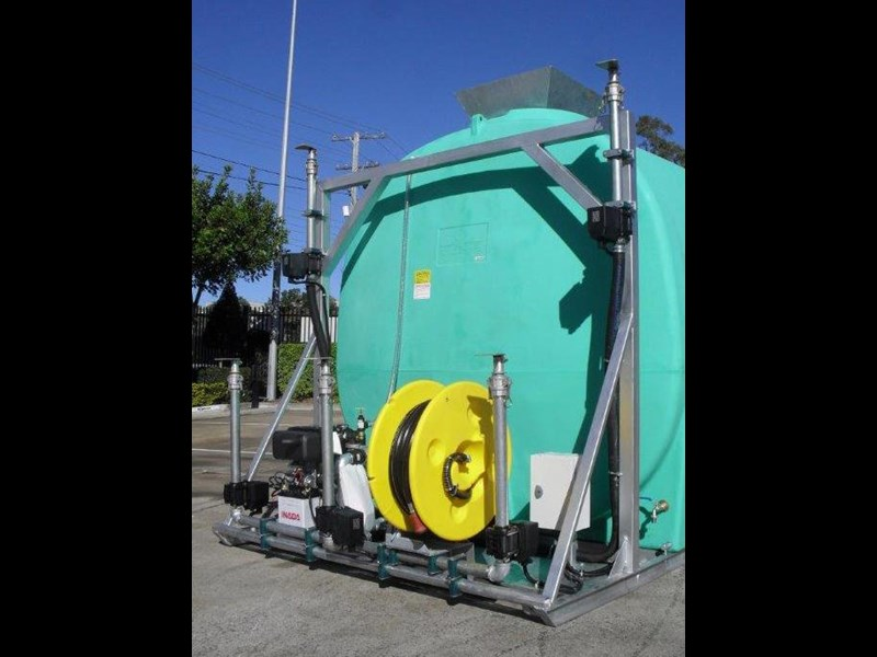 water tank 13000 l washing / dust suppression unit / free standing water tank [ptc13000-dust] [tfwater] 243490 005