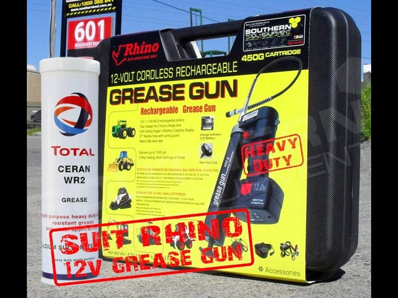 rhino grease. heavy duty. water resistant, multi purpose grease - 450g cartridge [wr2] [tfggun] 246637 013