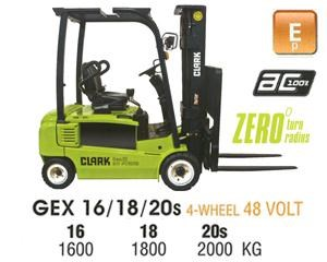 clark gex16 electric forklift 270479 001