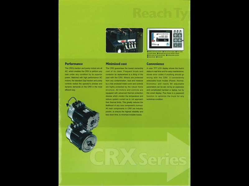 clark crx13 electric reach truck 270498 007