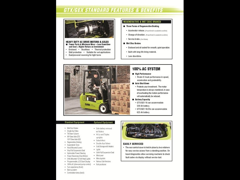 clark gex16 electric forklift 270479 009
