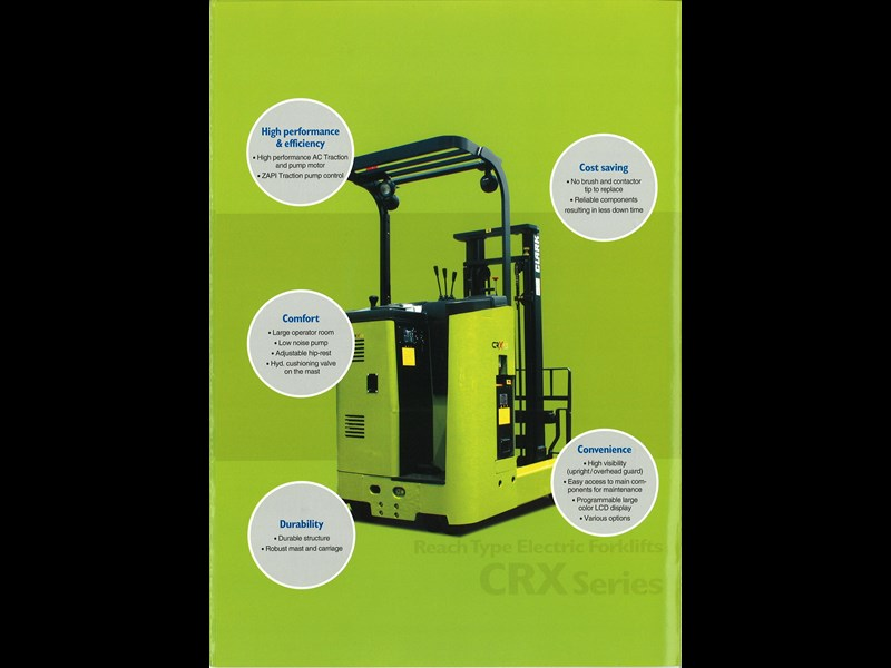 clark crx18 electric reach truck 270501 011