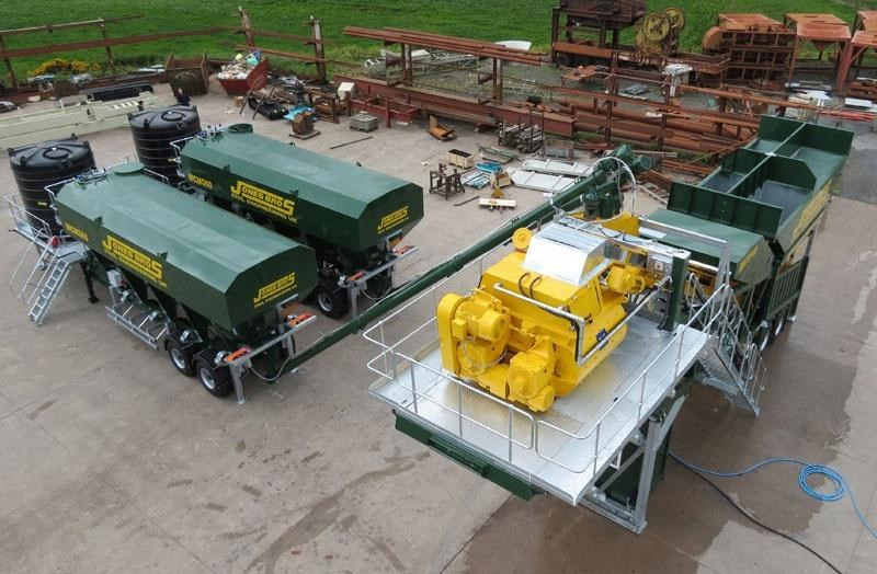 mccrory mcm-40 mobile concrete batching plant 272974 008