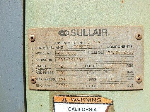 sullair 425 dpq-jd 272693 003