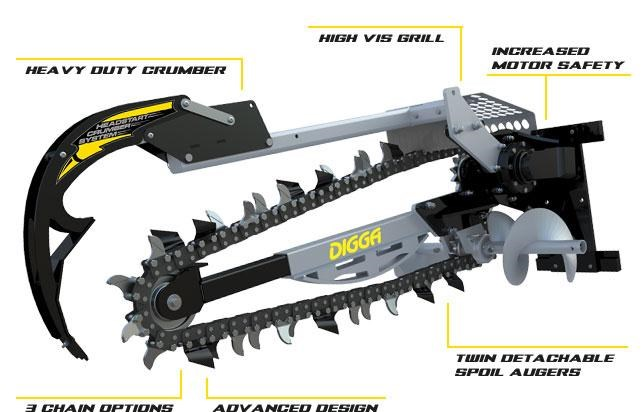 digga 1200 hydrive trencher 273355 001