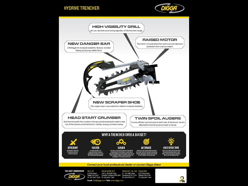 digga 900 hydrive trencher 273353 003