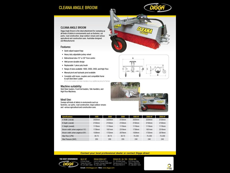 digga cleana angle broom 273728 007