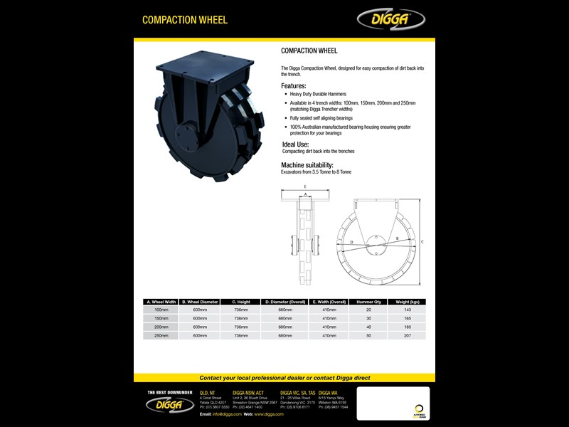 digga compaction wheel 273852 003
