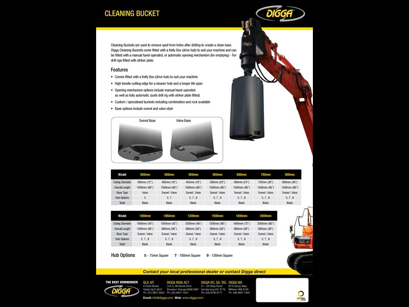 digga cleaning bucket 273919 003