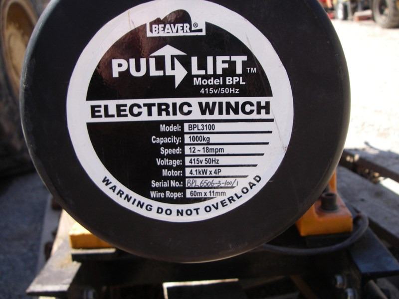 beaver pull lift bpl3100 electric winch 277094 011