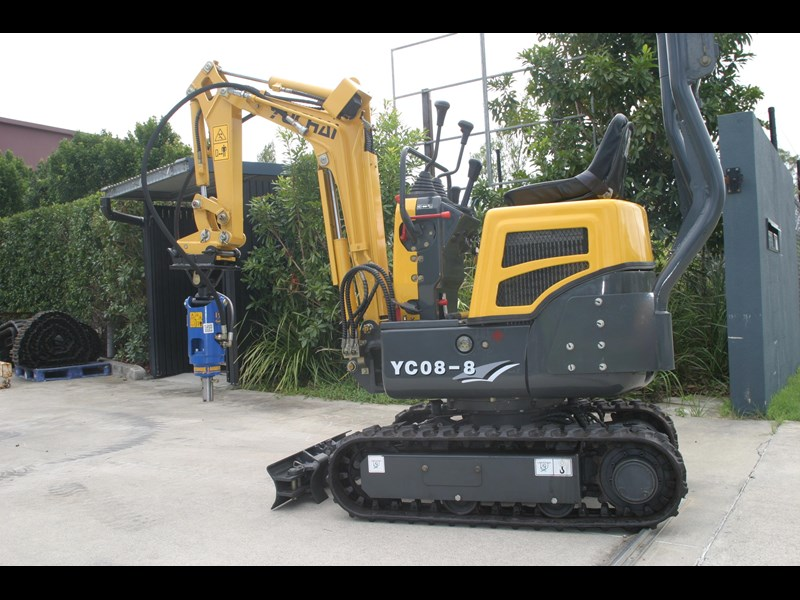 yuchai yc08-8 excavator and trailer combo 275748 013