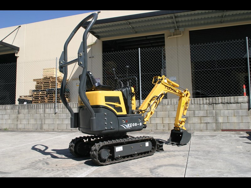 yuchai yc08-8 excavator and trailer combo 275748 025