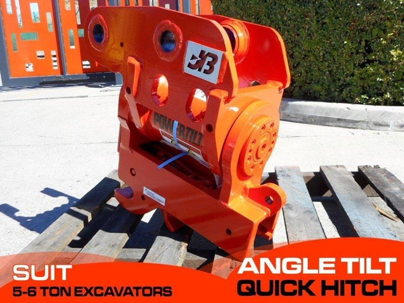 jb attachments hydraulic power tilting quick hitch / excavators tilting hitches suits 5t+ compact excavators [jb055] [attbuck] 281476 001