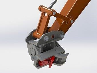 jb attachments hydraulic power tilting quick hitch / excavators tilting hitches suits 5t+ compact excavators [jb055] [attbuck] 281476 005