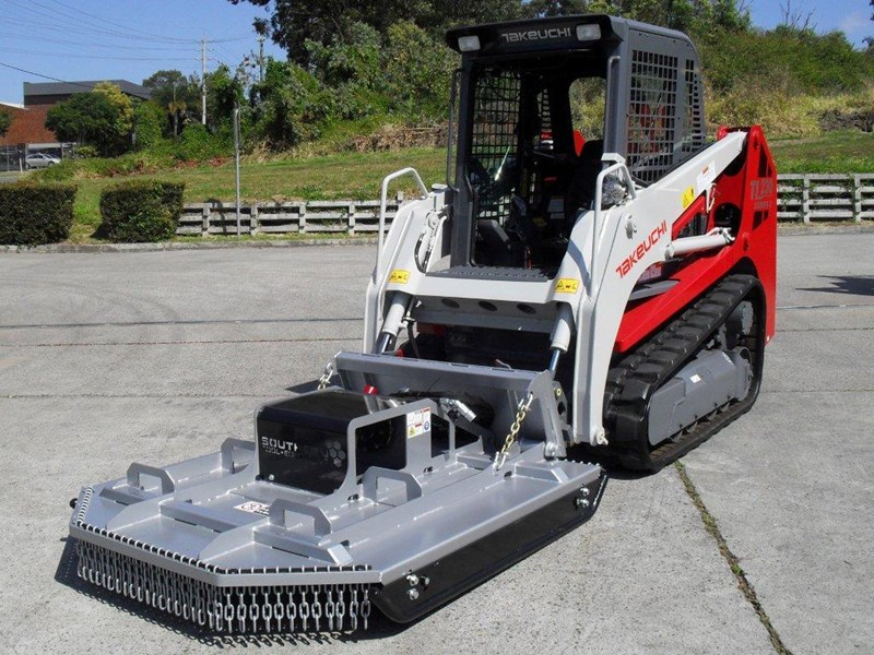 rhino [5' feet] 1650mm loader / takeuchi tl10 tl12 skid steer loader brush cutter / slasher attachment. [attslash] 236312 001