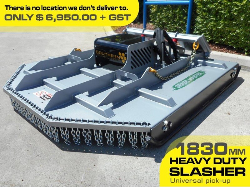 rhino [6' feet] 1830mm slasher / brush cutter attachment - suit bobcat skid steer loader  [attslash] 236323 001