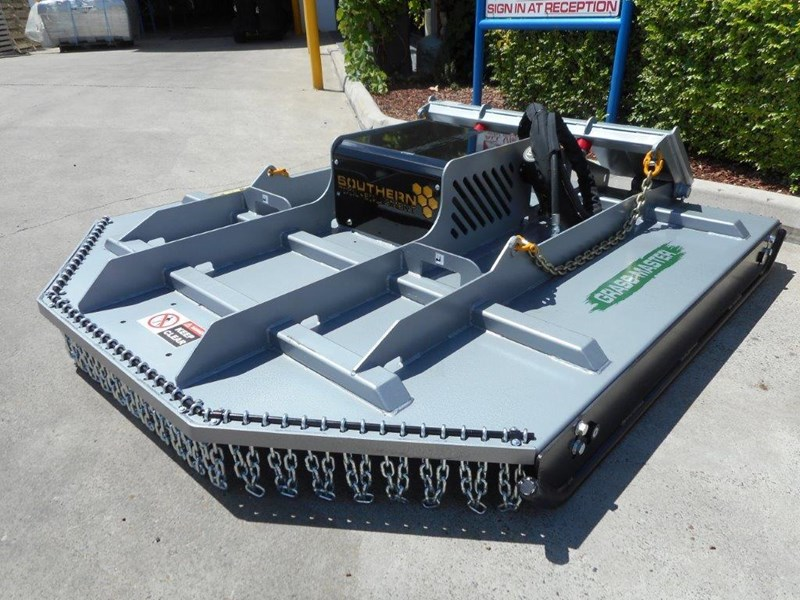 rhino [6' feet] 1830mm slasher / brush cutter attachment - suit bobcat skid steer loader  [attslash] 236323 017