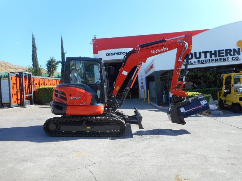 kubota flail mower / mulchers attachment with 724mm cutting width suit kubota kx057 u57 / u55 [attslash][attmulch] 297276 035