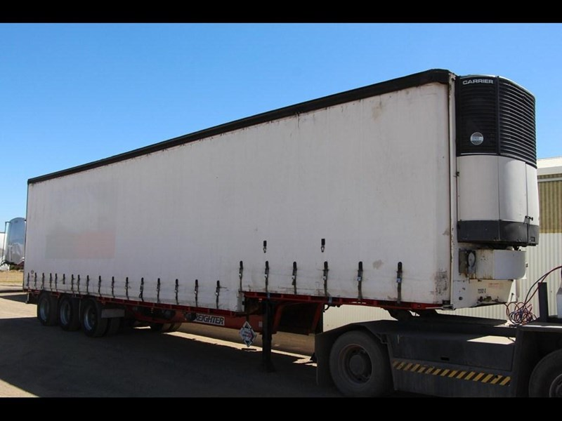 maxitrans 45ft refrigerated drop deck curtainsider semi trailer 298750 021