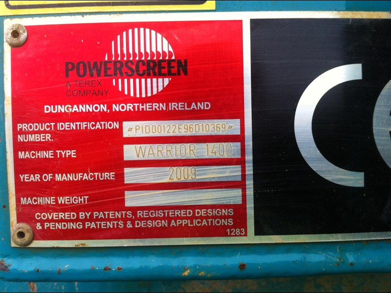 powerscreen warrior 1400 299661 013