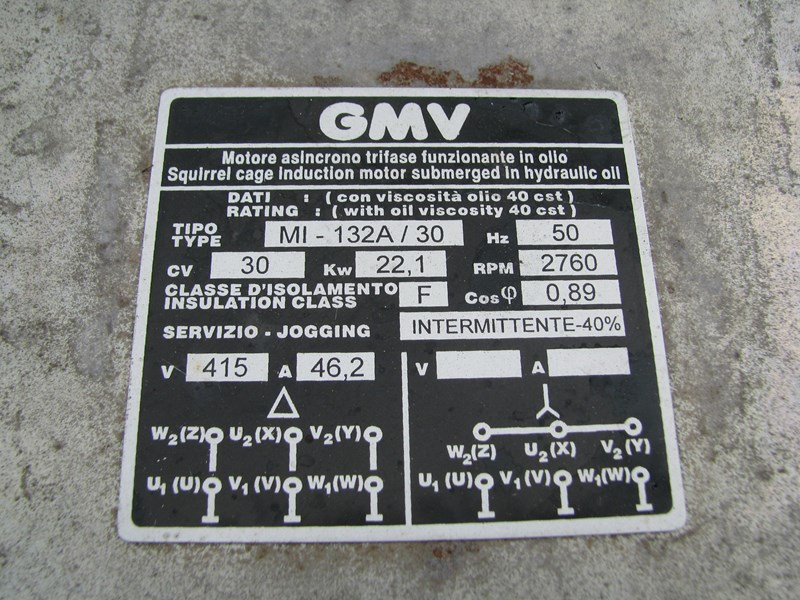 gmv 3010 hydro lift hydraulic power pack unit 306742 009