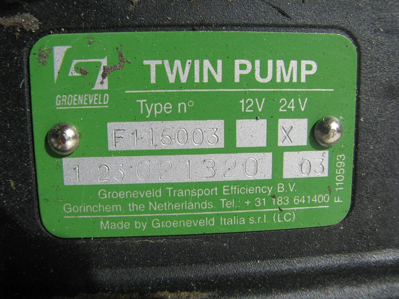 groeneveld automatic greasing system twin pump 307281 009