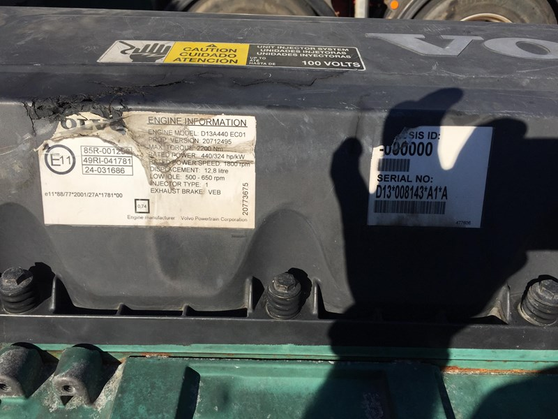 volvo engine d13a 315851 009