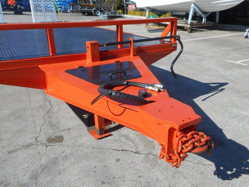 kubota 11 ton single axle 5m tag trailer combo with kubota kx-57/u57 5.5 ton excavator [machexc] [attrail] [mcombo] 318321 011