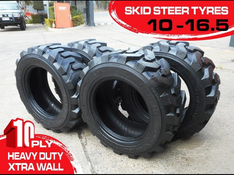 rhino 10-16.5 skid steer loader spare tyres - 10ply xtra side walls [heavy duty] [20kg] suit bobcats loaders [atttyre] 326254 001