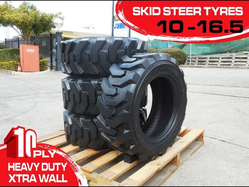 rhino 10-16.5 heavy duty skid steer loader spare tyres - xtra side walls [10ply] [20kg] [atttyre] 325181 001