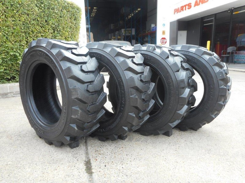 rhino 10-16.5 skid steer loader spare tyres - 10ply xtra side walls [heavy duty] [20kg] suit bobcats loaders [atttyre] 326254 011