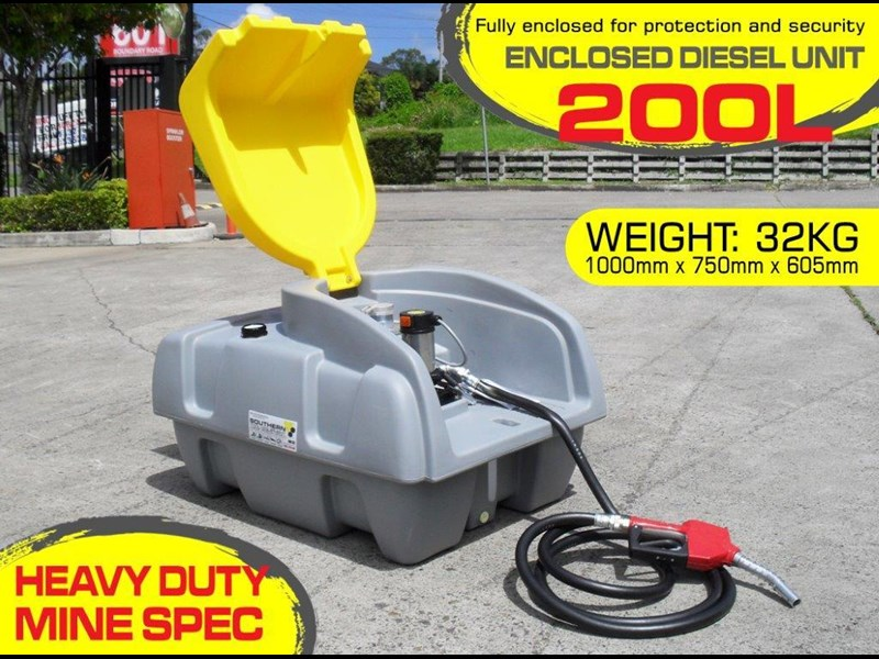 lockable & secure poly diesel fuel tank 200l / diesel unit [dmp200-std] [tfpoly] 243018 002
