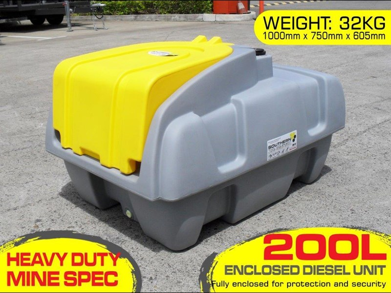 lockable & secure poly diesel fuel tank 200l / diesel unit [dmp200-std] [tfpoly] 243018 001