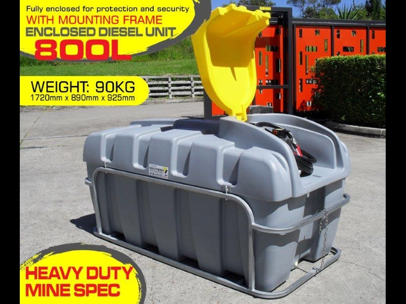 lockable & secure poly 800l diesel unit / diesel fuel tank with mounting frame [dm800mf] [tfpoly] 243059 003