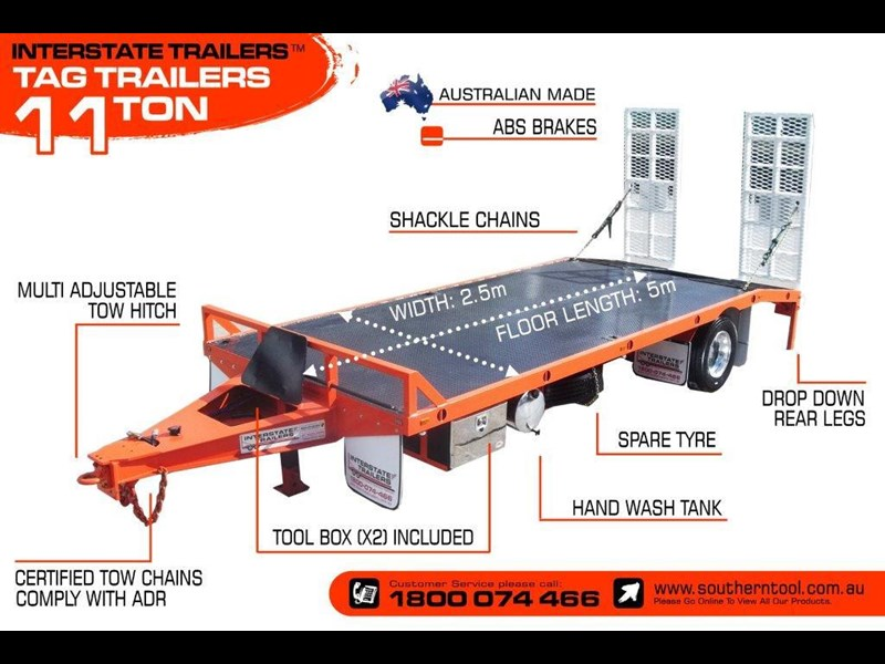 interstate trailers 11 ton tag trailer 302040 005