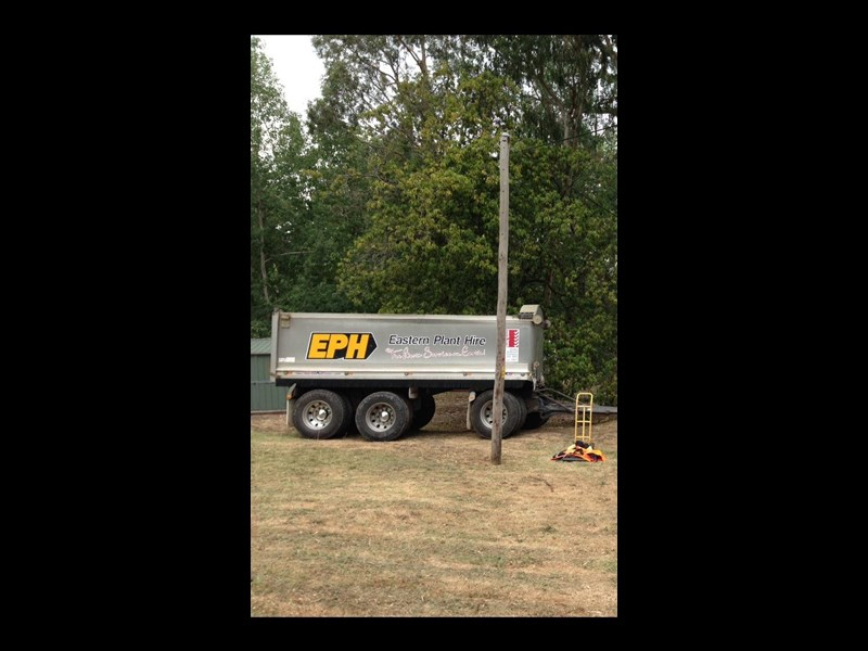 hamelex 3 axle dog trailer 342409 005